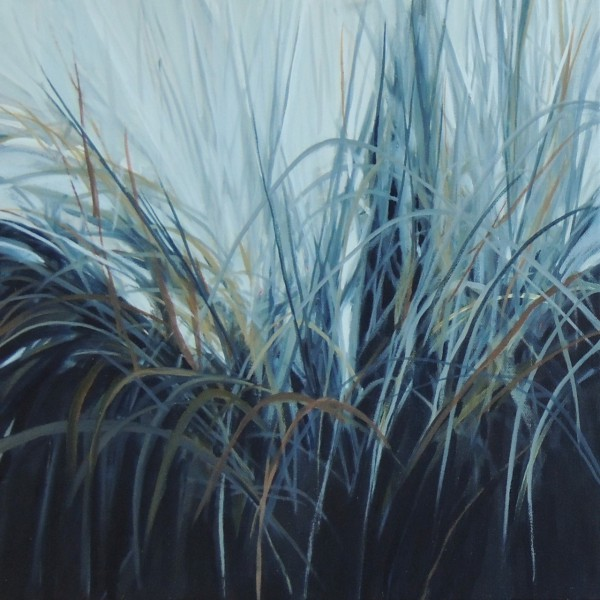 GRASSES 2 16X16 OIL ON CANVAS