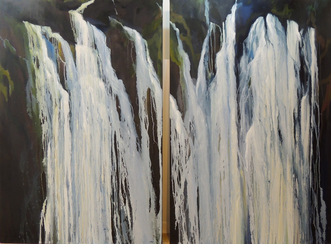 FROZEN FALLS DUO OIL ON CANVAS
