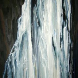 WATERFALLS 2 72X48 OIL ON CANVAS