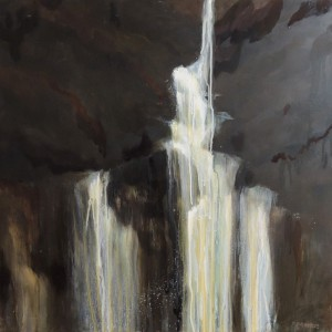 SMALL FALLS 24X24 OIL ON CANVAS