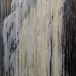 FROZEN FALLS 45X72 - OIL ON CANVAS